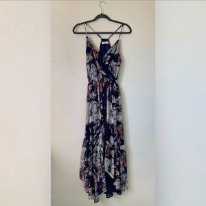 Floral waterfall Maxi Dress